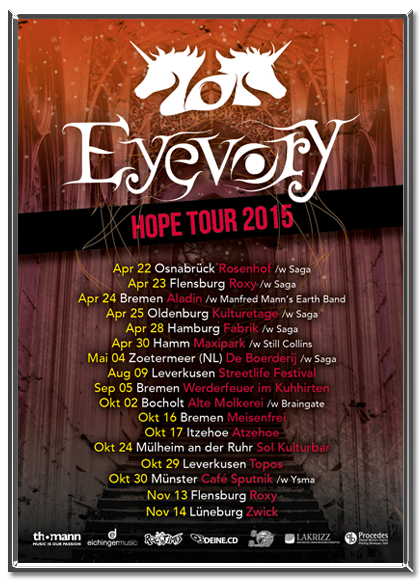 Eyevory Tour Flyer 2015